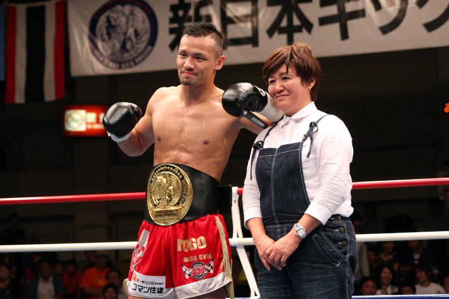 バウトレビュー - REPORTS - 江幡睦、タイ人に1R KO勝ち。斗吾が日本ミドル級王者に