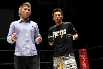 元谷(左)と和田