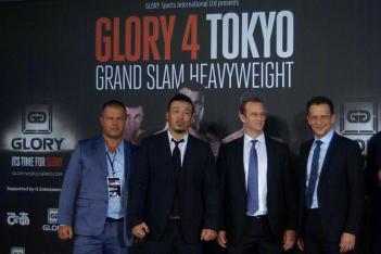左からバス・ブーン氏、武蔵氏、ピエール・アンドゥランド氏、マーカス・ルアー氏