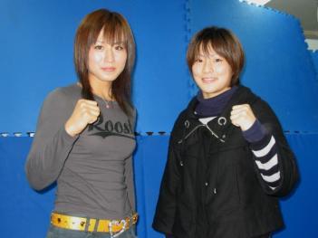 長野(左)と石岡