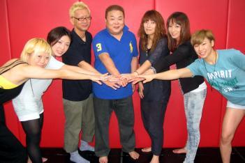 写真左から吉田正子、藤野恵実、勝井雅夫氏、佐伯繁氏、茂木康子、長野美香、杉本恵