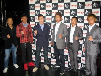 写真左から大川、匠、鈴木、嶋田、結城、Kazyosi