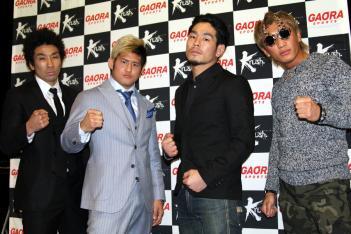 左からNOMAN、HIROYA、TaCa、泰斗