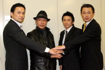 左から伊藤氏、藤原氏、山口氏、M-1 MCの山本智代表