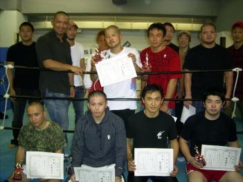 入賞者とパンクラスのプロ選手たち