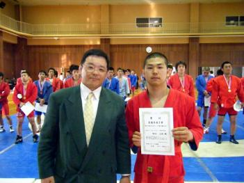 最優秀選手賞の嶋田元紀