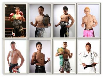 写真上段は左から高橋、裕樹、鈴木、ウィッキー、下段は左から小宮、MASAYA、モハン、小見川